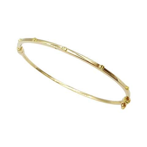18ct Rose Gold Screw Design Ladies Bangle - Richard Miles Jewellers