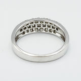 9ct White Gold Diamond Lattice Design Ring 0.50ct - Richard Miles Jewellers