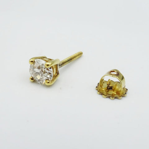 18ct Yellow Gold Diamond Single Stud Earring 0.50ct - Richard Miles Jewellers