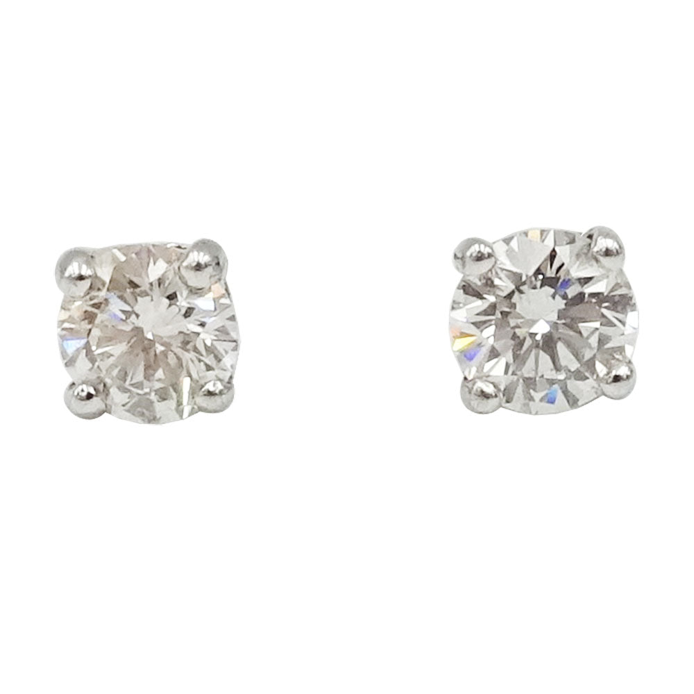 18ct White Gold Large Diamond Stud Earrings 0.50ct 2.2g - Richard Miles Jewellers