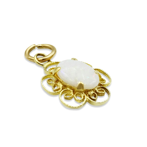 9ct Gold Small Opal Pendant