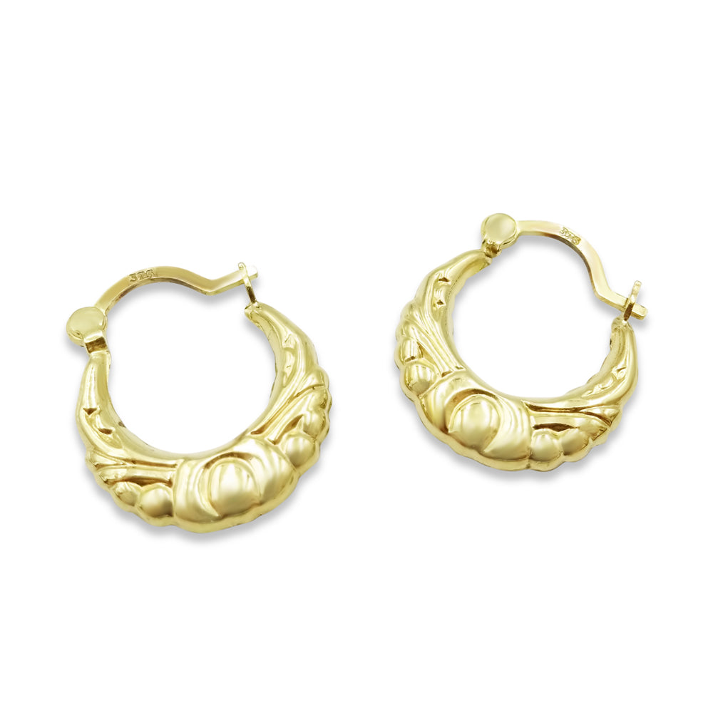 9ct Gold Small Creole, Earrings
