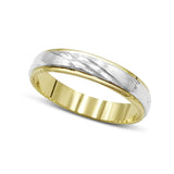 18ct White and Yellow Gold Wedding Band, Size Q