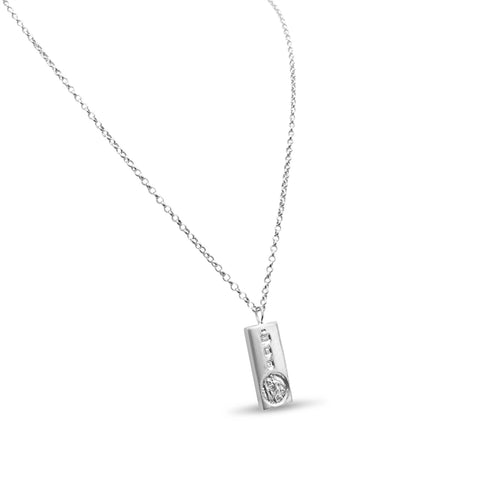 Silver Ingot UK Stamped Pendent and Chain 25mm