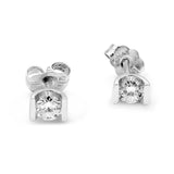 9ct White gold Diamond Studs 0.25ct Ladies