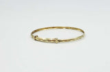 9ct Gold Extending Baby Bangle