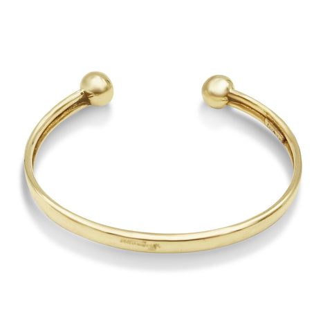 9ct Gold Torque Baby Bangle
