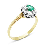 18ct Gold Emerald and Diamond Ring