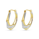 9ct Gold Fancy Creole Hoop Earrings