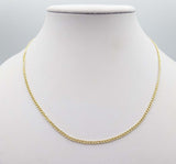 "18ct Gold Curb Chain 18"" 2mm"