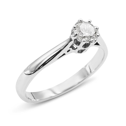 18ct Engagement Diamond Ring For Ladies 0.30ct