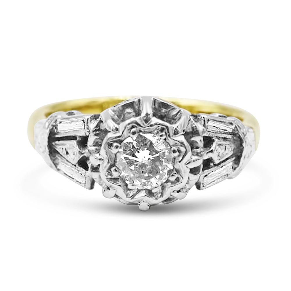 18ct Gold Vintage Diamond Ladies Ring