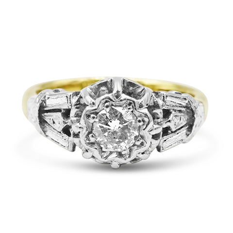 18ct Gold Vintage Diamond Ring
