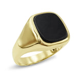 9ct Gold Square Onyx Ring