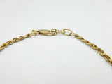 9ct Gold Rope Bracelet 8 Inches
