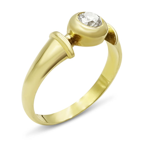 18ct Gold Small Diamond Ring Size I