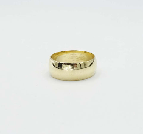 9ct Gold Wide Wedding Band Size W