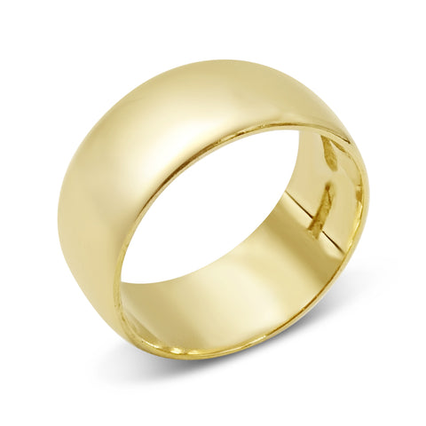 22ct Gold Wide Wedding Band Size K