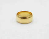 22ct Gold Wide Wedding Band 8mm Size K
