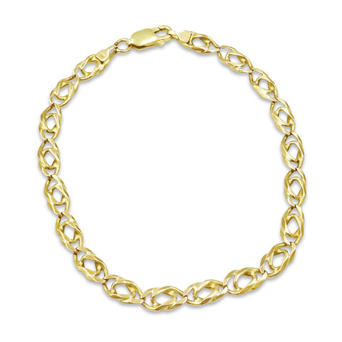 9ct Gold Fancy Linked Bracelet 6.3g