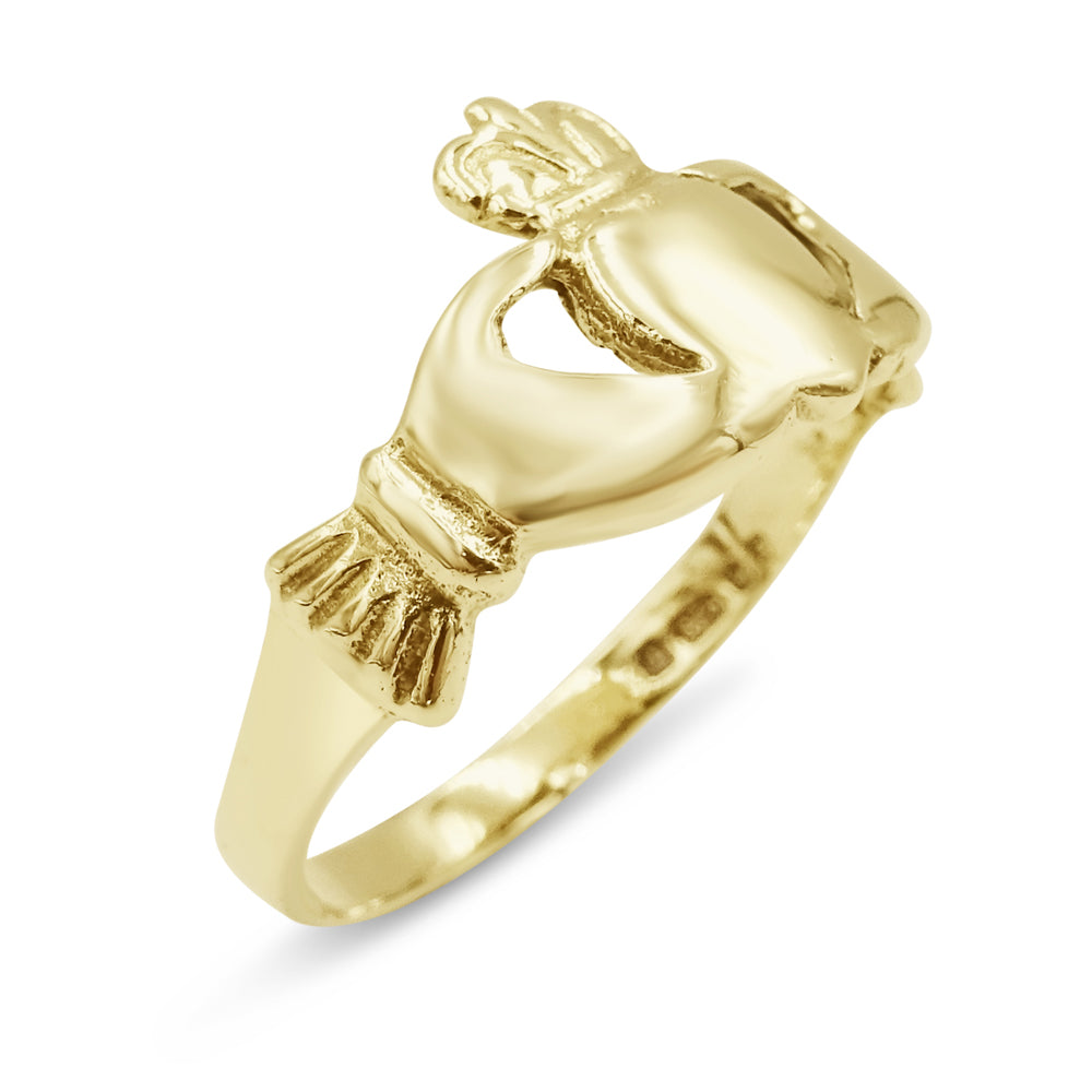 9ct Gold Claddagh Ring  Ladies 1.7g