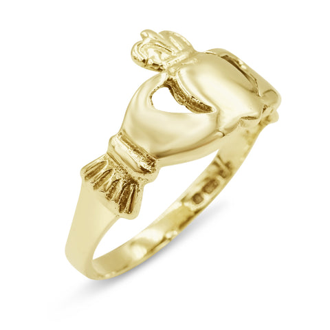 9ct Gold Claddagh Ring 1.7g