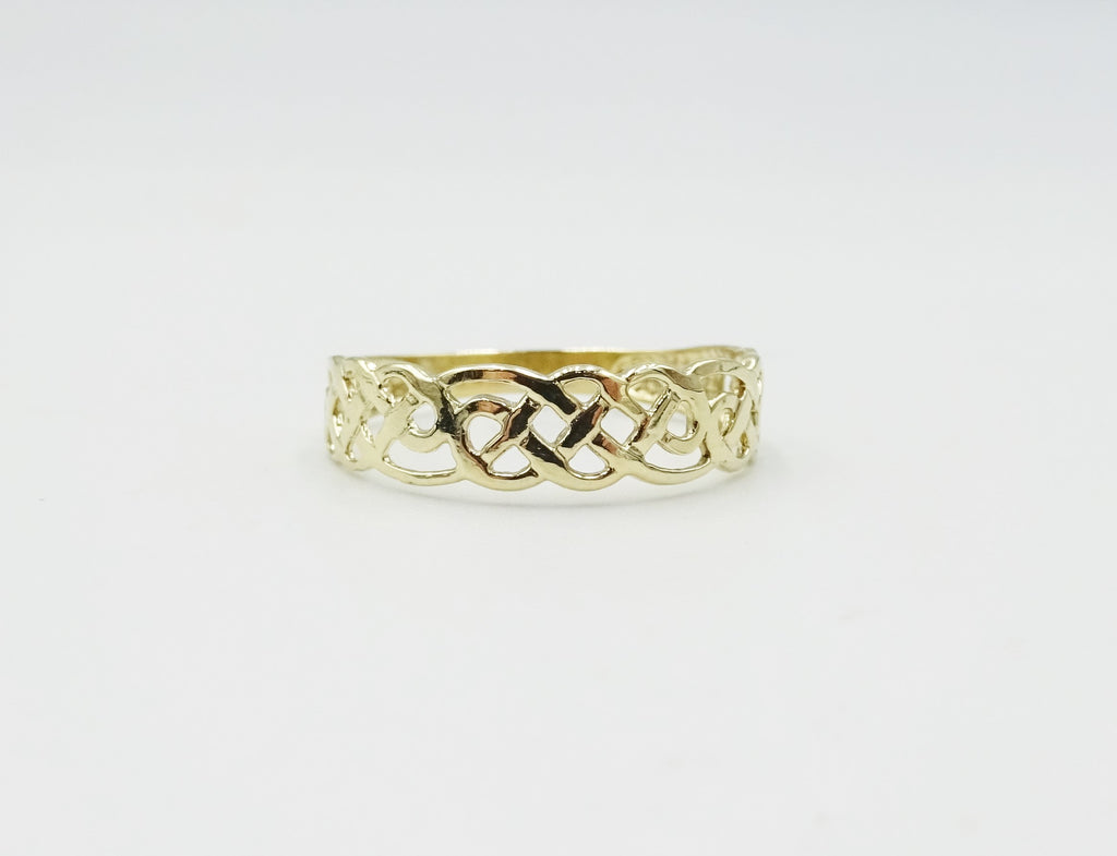 9ct Gold Celtic Patterned Ring
