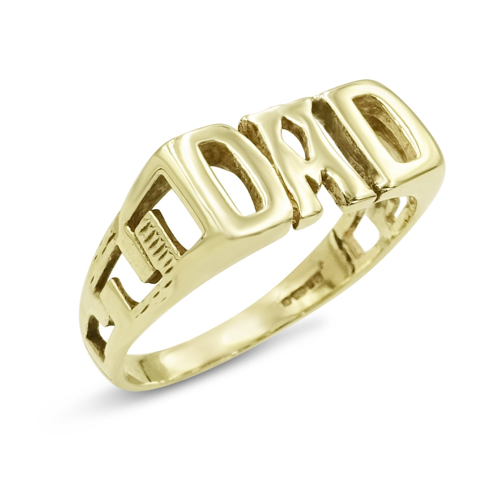 9ct Gold DAD Ring Size X