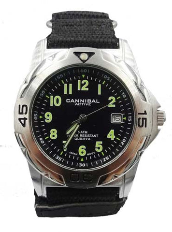 Mens Cannibal CG031 Velcro Strap PVD Plated Watch 7.8inch 28mm