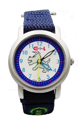 Boys Cannibal CK- 025 Navy Velcro Strap Dog Dial Kids Watch 5.5inch 23.3mm