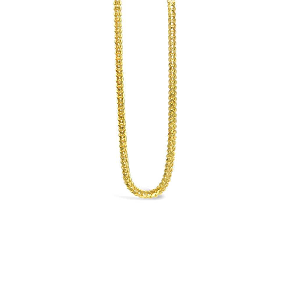 22ct Yellow Gold 916 UK Hall Marked Quality Medium Franco Chain 18inch 11.2g - Richard Miles Jewellers