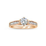 18ct Rose Gold 750 Hall Marked CZ Claw Set Centre Stone Ladies Ring Size N 3.2g - Richard Miles Jewellers