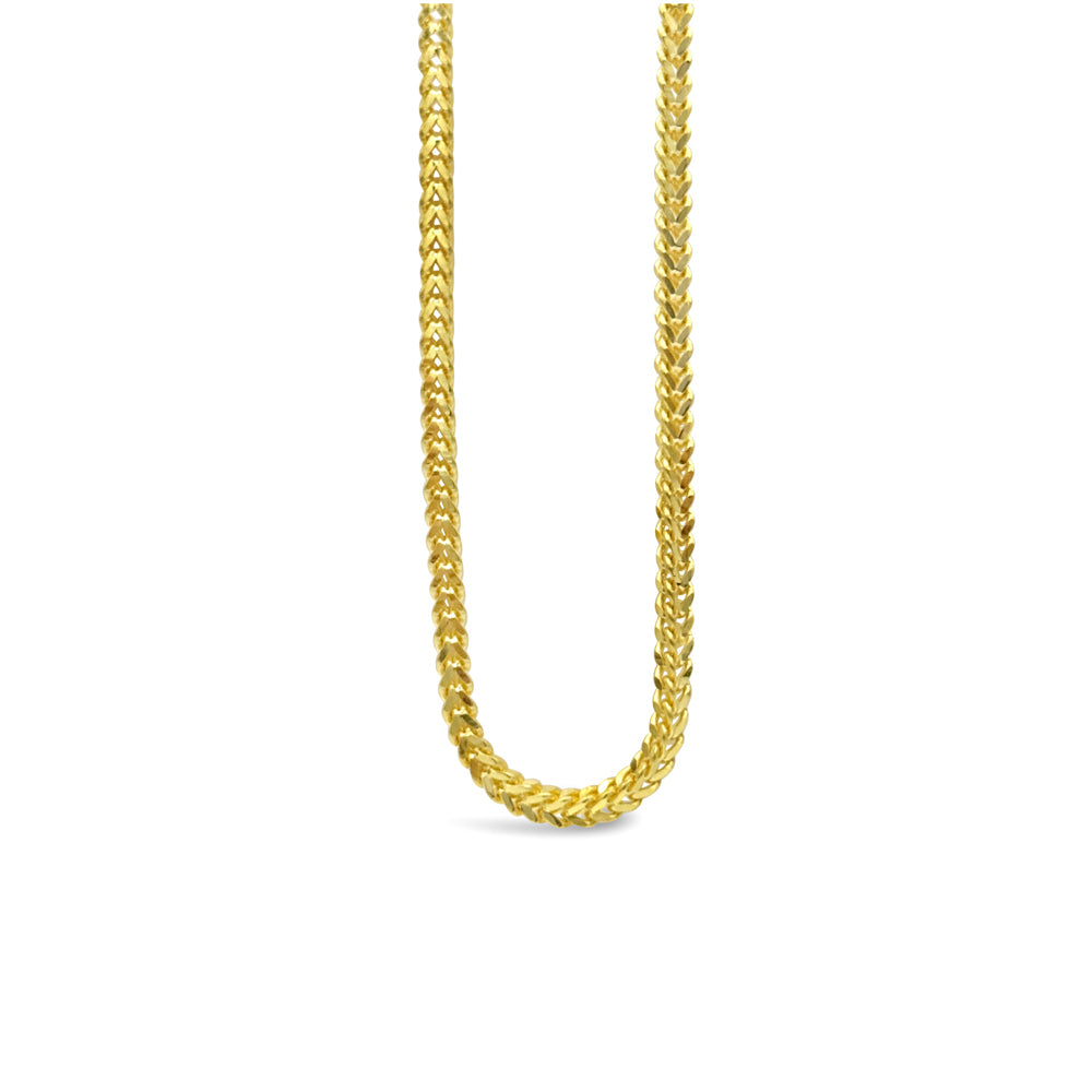 22ct Yellow Gold 916 UK Hall Marked Medium Franco Style Chain 20inch 12.5g - Richard Miles Jewellers