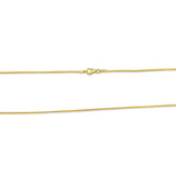 22ct Yellow Gold UK Ladies Premium Fine Franco Chain 18inch 3.1g - Richard Miles Jewellers