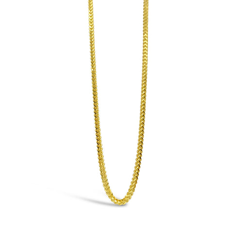 22ct Yellow Gold UK Hall Marked Premium Fine Franco Chain 18inch 3.1g - Richard Miles Jewellers