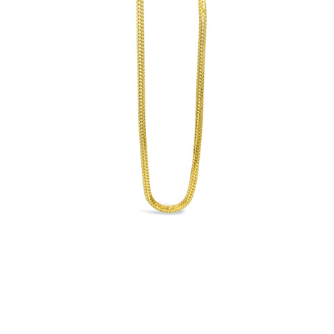22ct Yellow Gold 916 UK Ladies Medium Franco Chain 18inch 8.4g - Richard Miles Jewellers