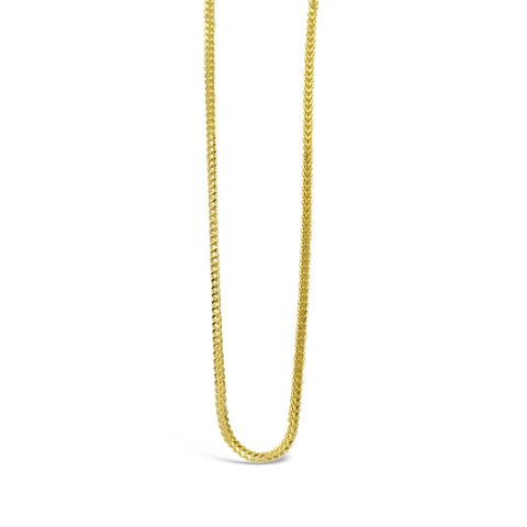 22ct Yellow Gold 916 UK Ladies Fine Franco Chain 20inch 3.1g - Richard Miles Jewellers