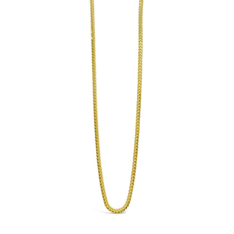 22ct Yellow Gold 916 UK Hall Marked Franco Chain 20inch 1mm 4.6g - Richard Miles Jewellers