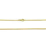 22ct Yellow Gold 916 Ladies Franco Chain 20inch 1mm 4.6g - Richard Miles Jewellers