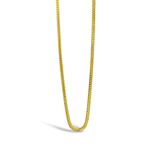 22ct Yellow Gold 916 Ladies Franco Chain 18inch 4.2g - Richard Miles Jewellers