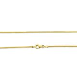 22ct Yellow Gold 916 UK Hall Marked Quality Franco Chain 18inch 4.2g - Richard Miles Jewellers