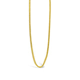 22ct Yellow Gold UK Ladies Quality Fine Franco Chain 16inch 2.7g - Richard Miles Jewellers
