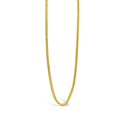 22ct Yellow Gold UK Hall Marked Quality Fine Franco Chain 16inch 2.7g - Richard Miles Jewellers