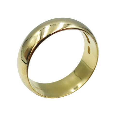 9ct Yellow Gold Gents Traditional Wedding Band Size R 5.7g - Richard Miles Jewellers