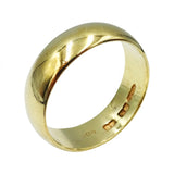 9ct Yellow Gold D Shaped Gents Wedding Band Size Y 7mm 7.1g - Richard Miles Jewellers