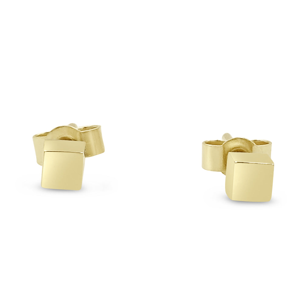 9ct Yellow Gold Square Studs 0.8g