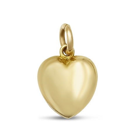 9ct Gold Small Heart Pendant Charm