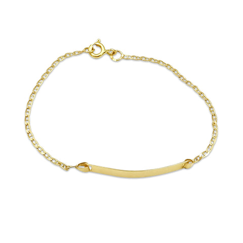 18ct Gold Childrens ID Bracelet