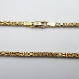 9ct Yellow Gold Solid Byzantine 2.5mm 20 Inch Chain 18.7g - Richard Miles Jewellers