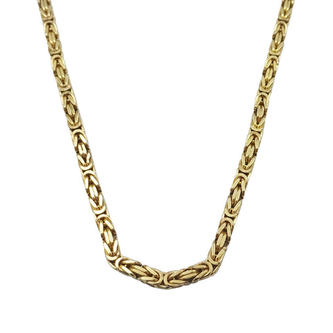 9ct Yellow Gold Solid Byzantine 2.5mm 20 Inch Chain 18.7g